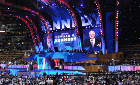 Kennedy Speech, View from CA Delegation