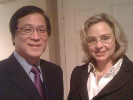 Sukhee Kang and Melissa Fox