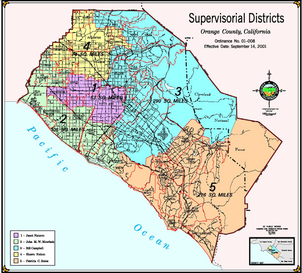 Orange County Political Map.Drawing The Political Lines For The Board Of Supervisors The