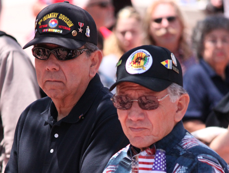 OC Veterans of the Vietnam War join in the recognition of the troups at County ceremony May 10, 2011