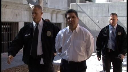 Councilman Carlos Bustamante Arrest at Santa Ana City Hall (Image from OC DA Video)
