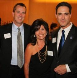 (L-R) Matt and Laura Cunningham and Supervisor Todd Spitzer