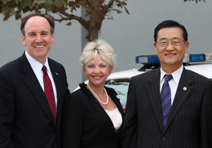 Jeff Lalloway and Christina Shea with Irvine Mayor Steven Choi-2014