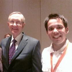 Senator Harry Reid with Andrew Davey