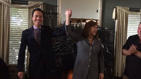 Bao Nguyen and Loretta Sanchez in North Hollywood