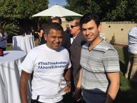 Al Jabbar (left), Mark Lopez (right) at Jose Moreno 2016 Campaign Kick Off